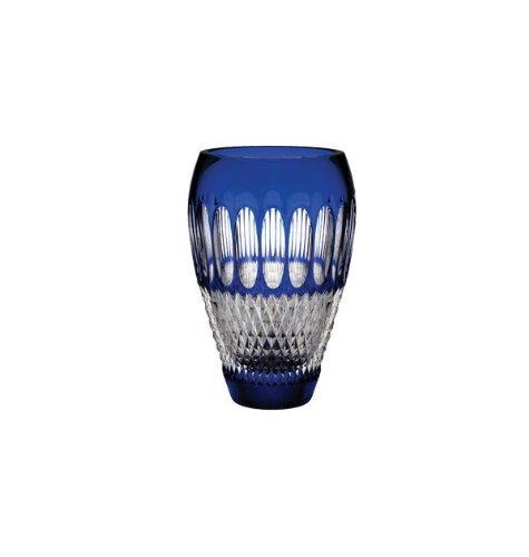 Waterford Colleen Pres 8 Inch Cobalt Vase by Waterford Crystal
