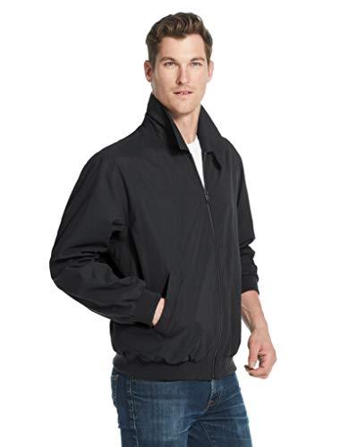 Weatherproof Original Mens Golf Jacket (Mens Windbreaker) Classic Mens Light Jacket (Large, Black)