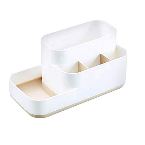 7Lucky Boîte de Rangement de Bureau, Support en Plastique de Stockage de Produits cosmétiques de Soin de la Peau