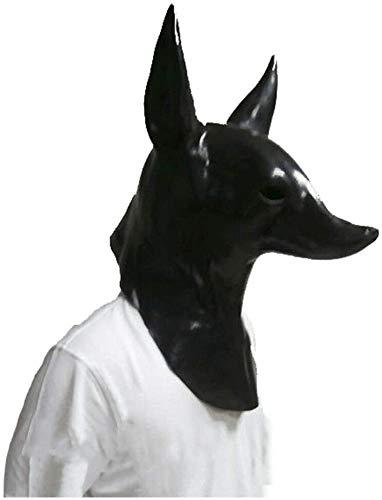 Neuheit Anubis Maske Tier Hund und Wolf Maske Halloween Requisiten Kostüm Maske Cosplay Parteischablone Karneval Karneval