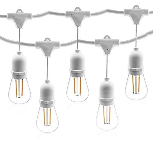 Catena di Lampadine AOMEX Catene Luminose LED catenaria 10 metri proungabile con 10 portalampada E27 lampadine non incluse (10M-BIANCO)