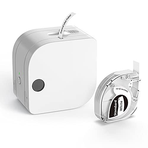Phomemo P12 Mini Bluetooth Beschriftungsgerät Handgerät, Thermo Etikettiergerät Selbstklebend, Etikettendrucker für Zuhause, Büro und Kleinunternehmen, Wireless Label Maker für iOS & Android Phone