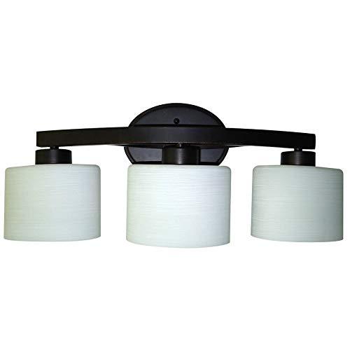 allen + roth 3-Light Merington Aged Bronze Standard Bathroom Vanity Light