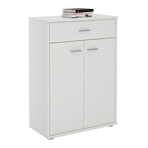 CARO-Möbel Kommode Sideboard Schrank Tommy in weiß, Anrichte Highboard mit Schublade und 2 Türen