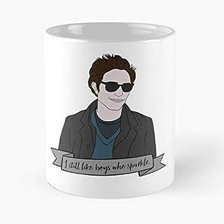 Nuevo Crepúsculo Eclipse Pattinson Robert Edward Team Sparkle Moon Cullen mejor taza de café de cerámica de 11 oz Personal...