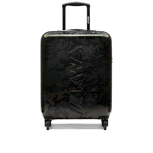 K-WAY K-AIR GRAPHIC Cabin Trolley 55 x 40 x 20 cm, Camo Black (Black) - K111JRW