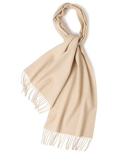 prettystern Bufanda larga de lana de color sólido con flecos para el otoño-invierno de hombres y...