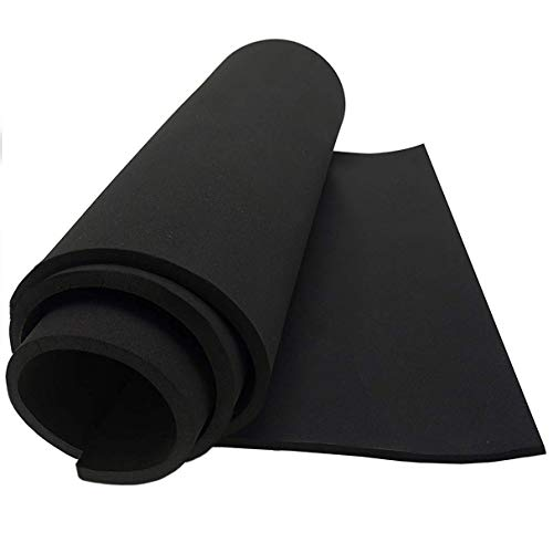 "Dualplex Neoprene Sponge Foam Rubber Sheet Roll, 12X54 inches X 1/4"" Thick, Perfect Cosplay Padding, DIY Project Sheet - Easy Cut Non-Adhesive Multi-Function Soundproof Rubber Foam Sheet"
