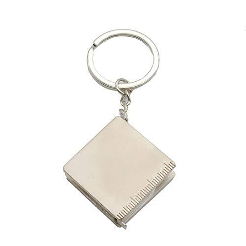 Xacxl 1pcs tragbaren Schlüsselanhänger Metall-Lineal Maßband Schlüsselring-Qualitäts-Multifunktionsschlüsselanhänger Schlüssel Halten Anhänger