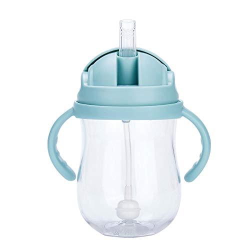 Matedepreso 300 ml Tazas Bebés Agua Paja Alimentación Botella Con Mangos De Succión A Prueba De Fugas
