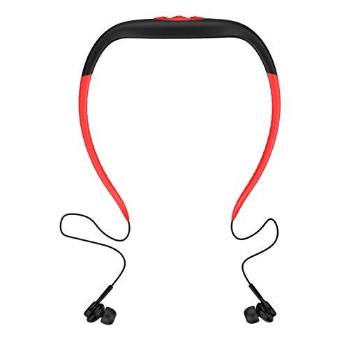 Blesiya Nuevo 168Plus 3 en 1 8GB Reproductor de MP3 Auriculares Bluetooth Radio FM Impermeable Correr natación Buceo Auriculares con micrófono Cancelación de - Rojo