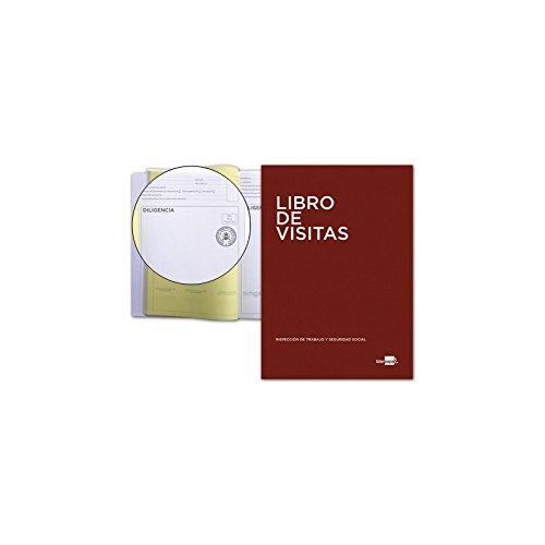 Liderpapel LV01 - Libro de registro de visitas de la inspección de trabajo, A4