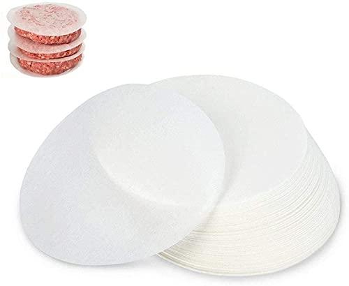 CCUCKY Carta Antiaderenti per Burger Patties 500 Pezzi,Diametro 12.5cm, Divisorio per Polpette di...