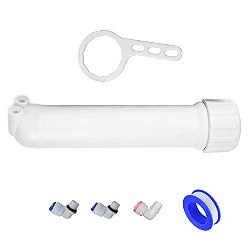 HUINING - Membrana ad osmosi inversa residenziale RO membrana filtro acqua cartuccia di ricambio per casa sistema di filtrazione acqua potabile famiglia (alloggiamento)