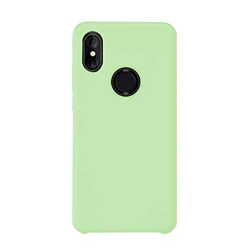 Croachi Compatible con Funda XiaoMi Mi A2 Lite/Redmi 6 Pro, Xiaomi Mi 6X Case Carcasa Silicona TPU Transparente Cover Antigolpes Protector Ultra-Fina-Slim 360 (Verde, Mi A2 Lite/Redmi 6 Pro)