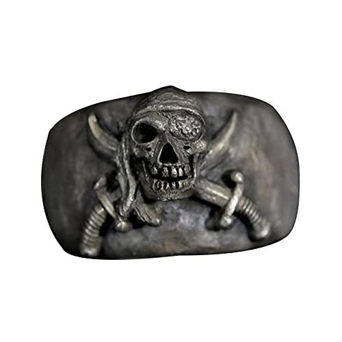 EzzySo Anillo de la cráneo del Pirata, Accesorios de aleación de la joyería de la Manera de la Manera de la Manera de la Manera de la Manera, Regalos, Anillos de Boda,12