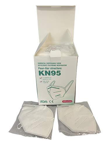 Veova 3 Lagig Mund Nasen Schutz Maske 50 Stück, Gesichtsmaske, Atemschutzmaske mit Ohrschlaufen, Versand und Verkäufer aus Deutschland