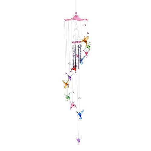 Garden Deco Windgong Humming Bird Windgong Klokken Opknoping Geschenken Dream Catcher Windgong Wall Home Car Decor Raamdecoratie (Kleur: Blauw)