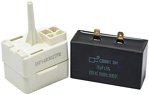 Price comparison product image W10613606 Refrigerator Compressor Start Relay and Capacitor - Exact Fit for Whirlpool KitchenAid Kenmore Refrigerators - Replaces W10416065,  PS8746522,  67003186