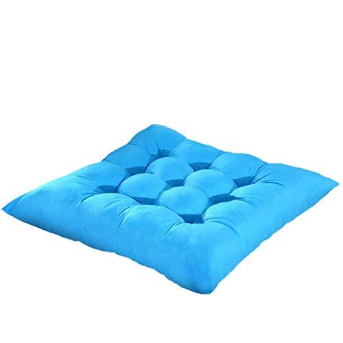 XYW Seat Cushions - Home Seat Cushion Pad Winter Office Bar Chair Back Seat Cushions Sofa Pillow Buttocks Chair Cushion 37x37cm 1/2/4pcs Comfortable (Color : 016, Size : 2pc)