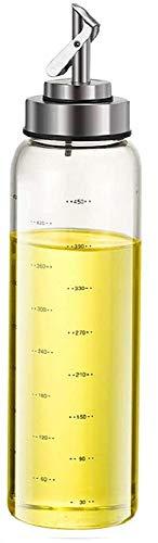 家庭キッチン用 調味料ボトル ガラス オイルボトル オイルポット 醤油ボトル 酢ボトル 漏れ止め 防塵 500ML