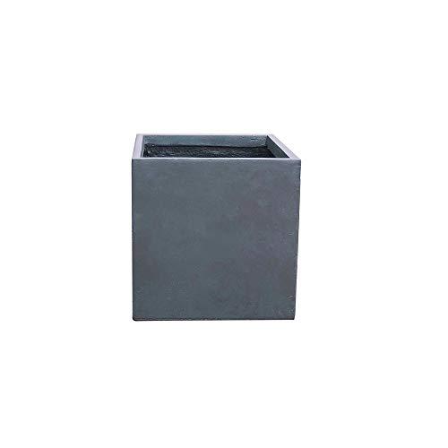 Kante RF0001C-C60121 Lightweight Concrete Modern Square Outdoor Planter, Charcoal