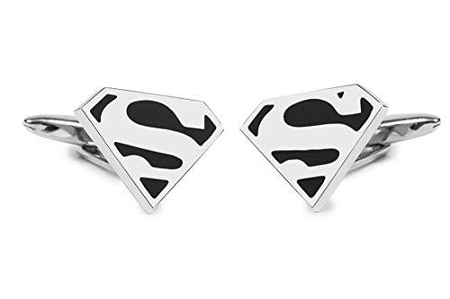 Sologemelos - Boutons De Manchette Superman Noir - Noir, Argenté - Hommes - Taille Unique