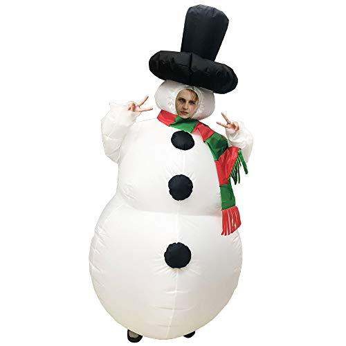 Weihnachten aufblasbare Schneemann Kostüm Anzug für Kinder Erwachsene Halloween Cosplay Party