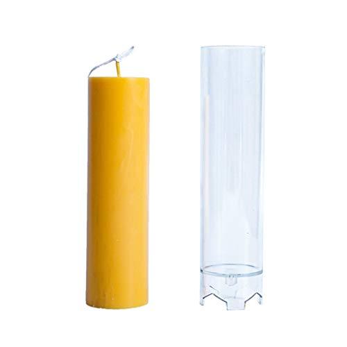 Stampo per candeliere in plastica Trasparente cdhgsh Stampo per Candela cilindrico per pilastro Decorazione per la casa Stampo per Candela Trasparente