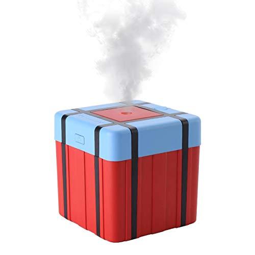 ACATIM 加湿器 大容量 静音 卓上加湿器 PUBG BOX 荒野行動 支援物資 ボックス型 花粉症 肌乾燥対策 水漏れ...