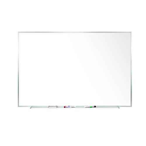 Ghent 4 x 12 Porcelain Magnetic Whiteboard, Aluminum Frame, 1 Marker, 1 Eraser, Made in the USA (M1-412-4)