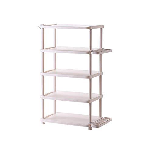 FCSFSF Zapatero multifuncional para el hogar, simple, zapatero para sala de estar con varias capas de plástico, estante para zapatos, estante de almacenamiento para la entrada (tamaño: B), 2, 2