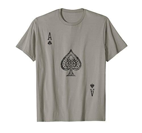 Pik-Ass Spielkartenkostüm, Poker, Distressed T-Shirt