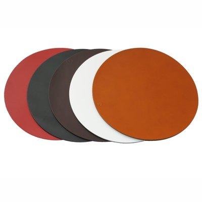 Sets de Table en Cuir Véritable Hide Revolution (Rouge Cerise 32cm diam)