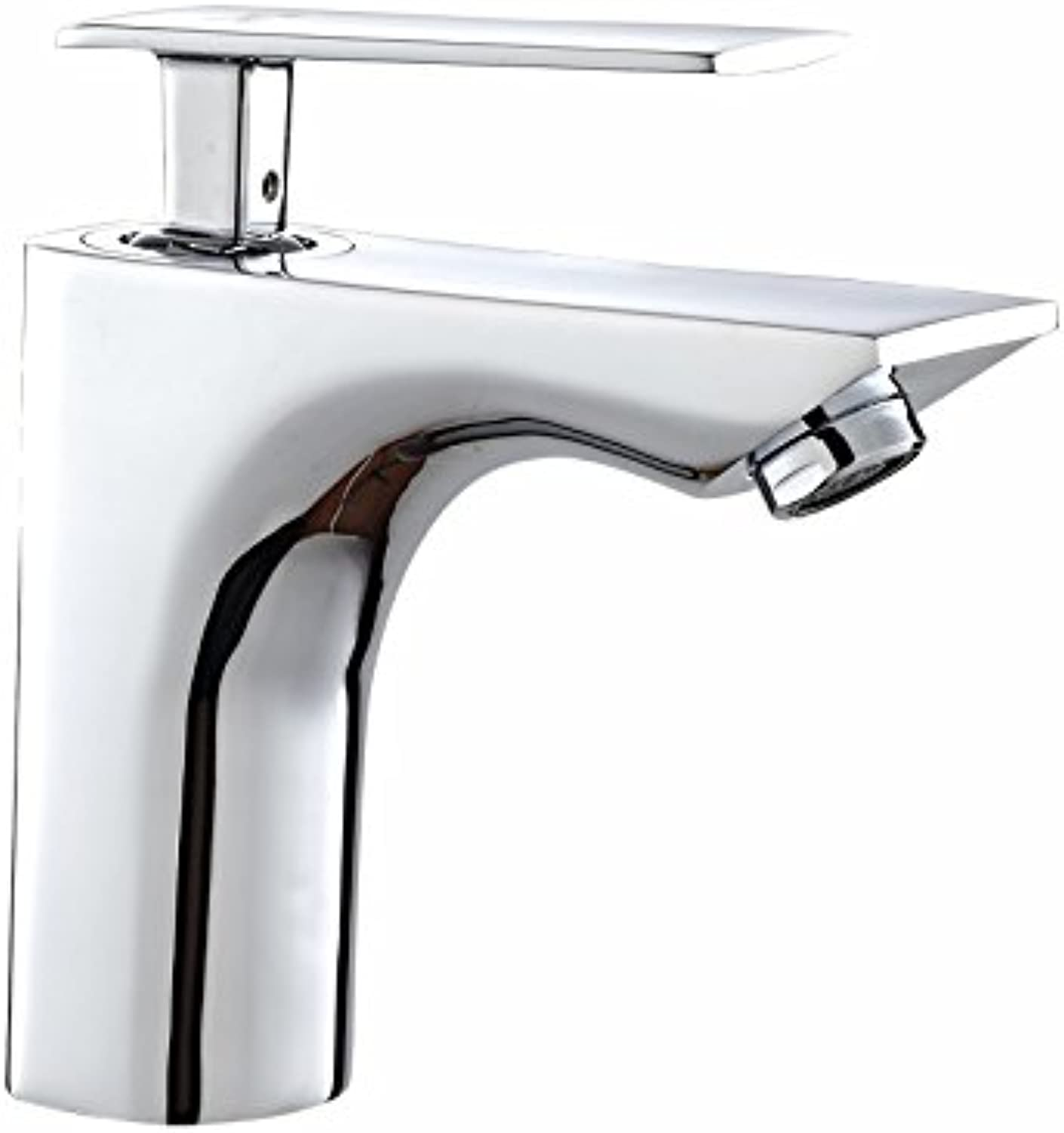Sun LL Bathroom Copper Bathroom Faucet Bathroom Washbasin Faucet Single Handle Single Hole ( color   Silver )