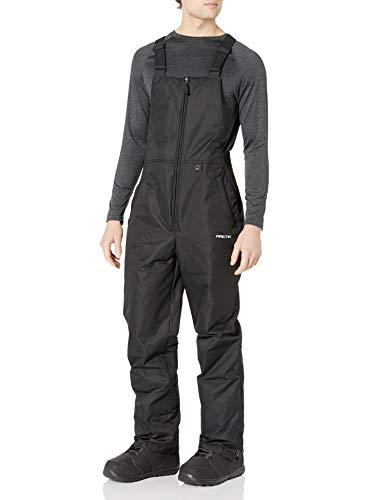 ARCTIX Men's Essential Insulated Bib Overalls, Black, Medium (32-34W 32L)