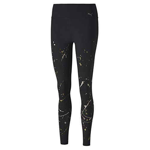 PUMA Damen Leggings Metal Splash Splatter Tight, Black, M, 519036
