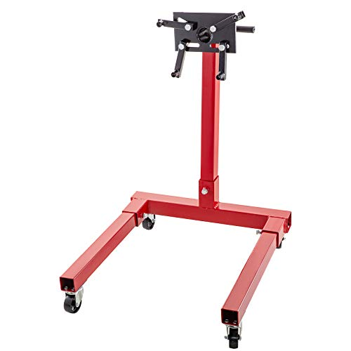 BestEquip Engine Stand 1500LBS Capacity Motor Stand Engine Hoist Rotating Automotive Tools in Heavy Duty Steel with 4 Iron Caster Wheels Maintenance Equipment for Auto Car Truck Jack