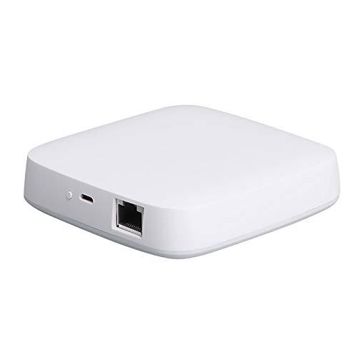 KOPOU Pasarela con Cable de Vida Inteligente Tuya Centro de Control de Dispositivos de Pasarela Inteligente Zigbee Enlace Remoto para Hogar Inteligente