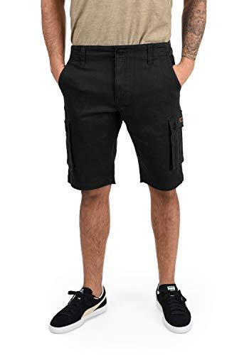 !Solid Laurus Herren Cargo Shorts Bermuda Kurze Hose Aus 100% Baumwolle Regular Fit, Größe:XL, Farbe:Black (9000)