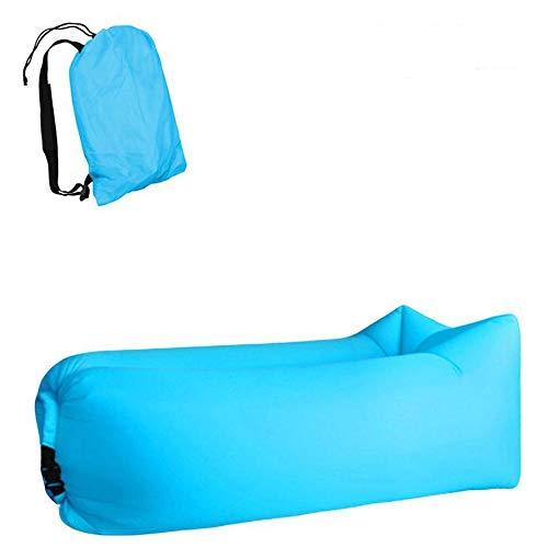 MikeyBee Camping canapé Gonflable Paresseux Sac 3 Saisons Sac de Couchage ultraléger lit pneumatique canapé Gonflable Chaise Longue Produits Tendances 2021(Bleu Ciel)