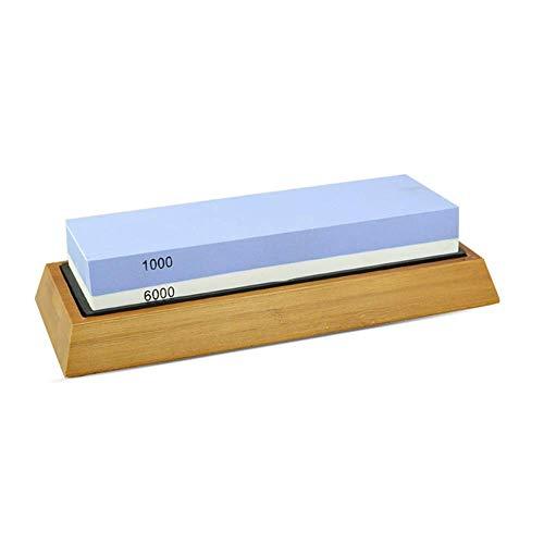 XCQ 2 in 1 1000/6000 GRIT Messer Spitzer Whetstone Schärfen Steine Schleifen Steinsystem Wasser Stein Honing Küchenwerkzeug Haltbar 0320 (Color : 1000/6000)