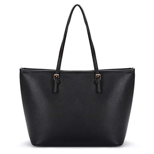 COOFIT Handtasche Damen, Schwarze Tasche Damen Umhängetasche Damen Shopper Damen Groß Handtasche Damen Gross Umhängetasche Damen SchwarzTasche Damen Groß Taschen Damen