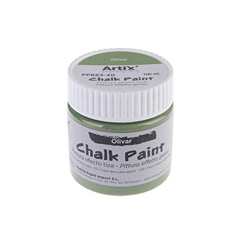 MP - Chalk Paint, Pintura Acrílica Efecto Tiza Vintage, (PP663-20) Color Olivar - 100ml