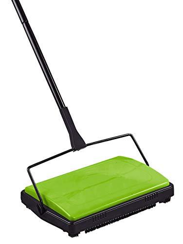 WENKO Scopa per tappeti verde, Ferro, 28 x 105 x 19 cm, Nero