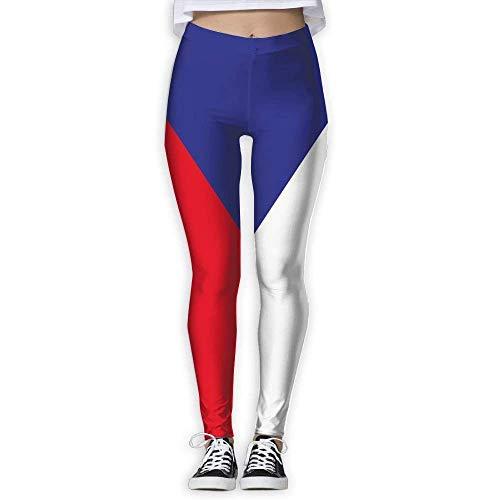 Deglogse Yogahosen, Trainingsgamaschen,Czech Republic Flag Exercise Yoga Pants Training Trousers