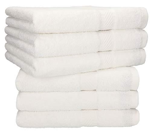 Betz 6 Stück Handtücher Palermo 100{493c51bde87c32836696da14e085ab5c6ff6cfe9ba85aa1a9a77605435255ba8} Baumwolle Handtuch-Set (weiß)