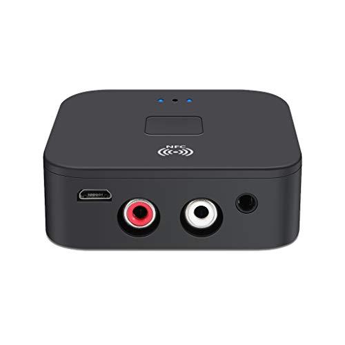 teng hong hui Receptor NFC Bluetooth 5.0 Receptor de TV del Coche del Altavoz de Bluetooth inalámbrico de 3,5 mm AUX 2 * RCA Jack Adaptador inalámbrico