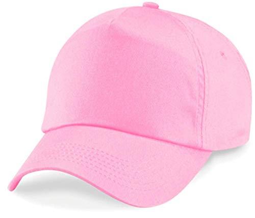 Shirtinstyle Basecap Casquette 5 Panneau Casquette Fermeture Scratch Taille Unisexe - rose, Unisex