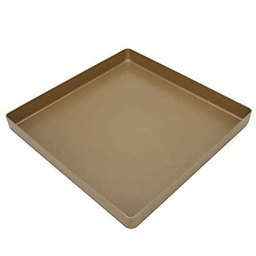 Teglia Forno 28 x 28 x 3 cm Teglia Pizza Rettangolare Teglie per Pizza Biscotti Teglia Piatti Quadrati Padella Per Pizza Antiaderente in Lega di Alluminio